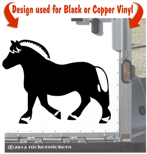 Fjord clipart Fjord Horse Clipart NickerStickers Horse Decals Custom Stickers