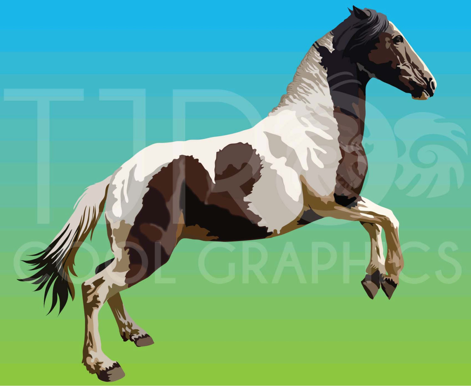 Fjord clipart Fjord Horse Clipart 3 Chincoteague warmblood Horses Printable
