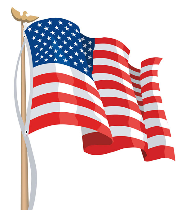 Flag clipart Us Clipart Waving Us Download