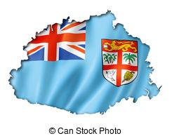 Flag clipart fiji Map Illustrations Fijian map Fiji