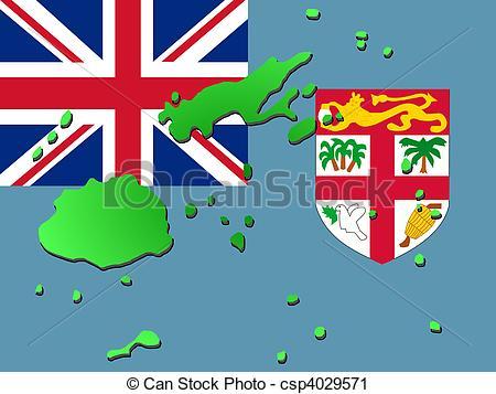 Flag clipart fiji Of Fiji Illustration  flag