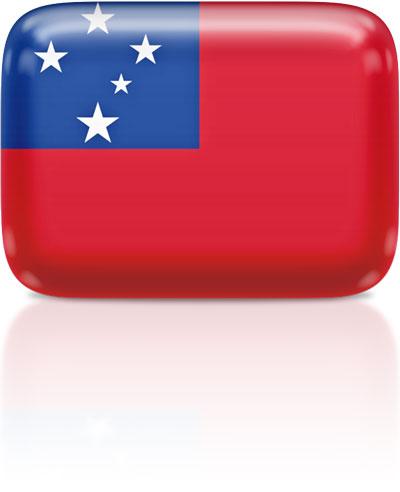 Flag clipart samoan Samoan rectangular Animated the Samoa