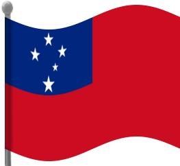 Flag clipart samoan Samoa Clip  Clip Art