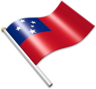 Flag clipart samoan The on flags of Animated