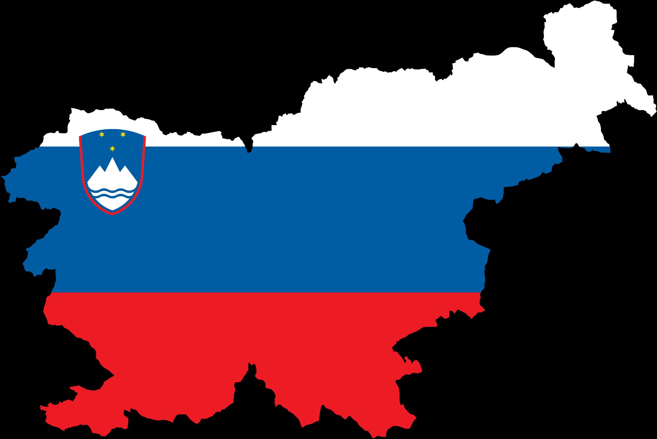 Flag clipart race track Stroke Slovenia With Flag Map