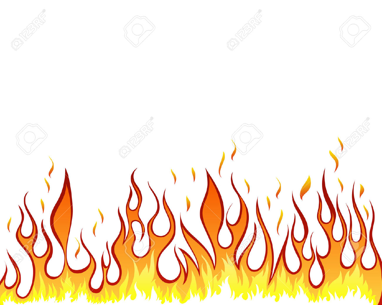Drawn fireplace Free Use Vector Inferno Vector