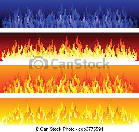 Flames clipart blaze Banners fire  clipart Blaze