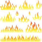 Flames clipart blaze · Flame set GoGraph Blaze
