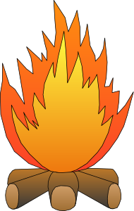Flames clipart camp fire To  fire Camp See