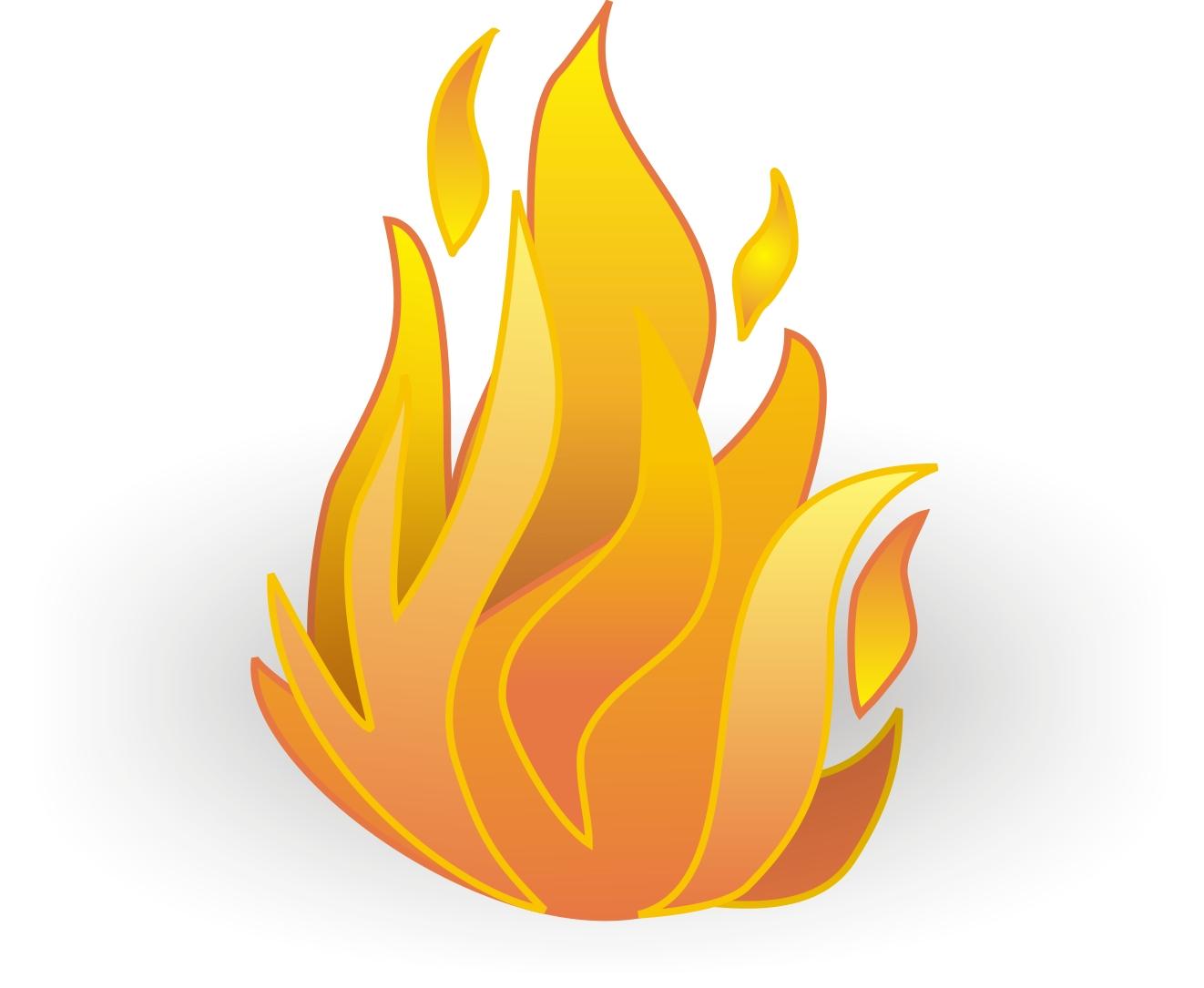 Flames clipart cartoon Cartoon Of Clip Fire Art