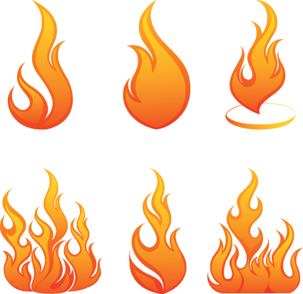 Flames clipart comic Clip Art icons Other vector