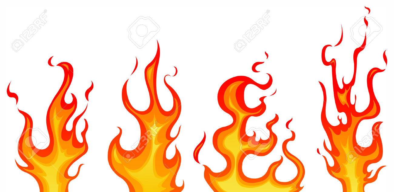 Flames clipart comic Flames Vector fir clip flames