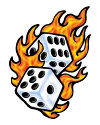 Dice clipart flames Clipart Free Dice Panda Clipart