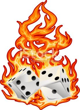 Dice clipart flames Best Free Illustration Melting Royalty