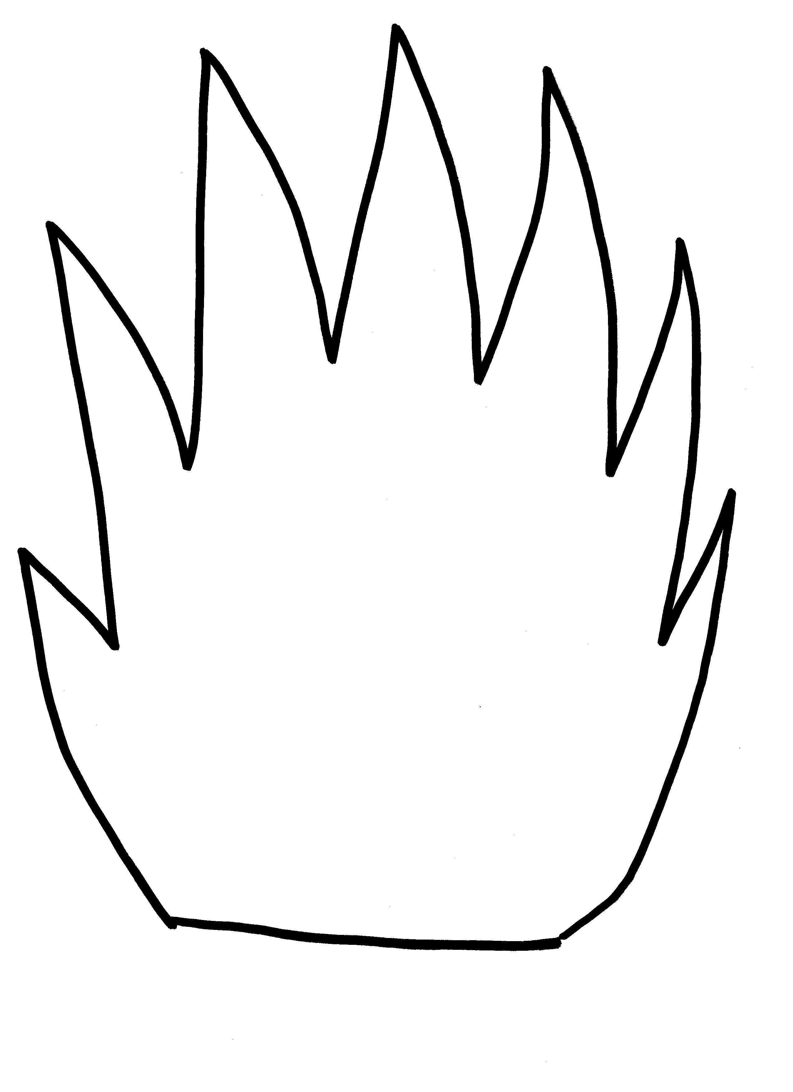 Flames clipart flame outline Template  on Printout Flame