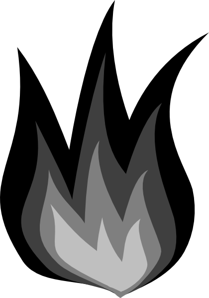 Flames clipart flame outline Border Cli Fire Flame Masteri