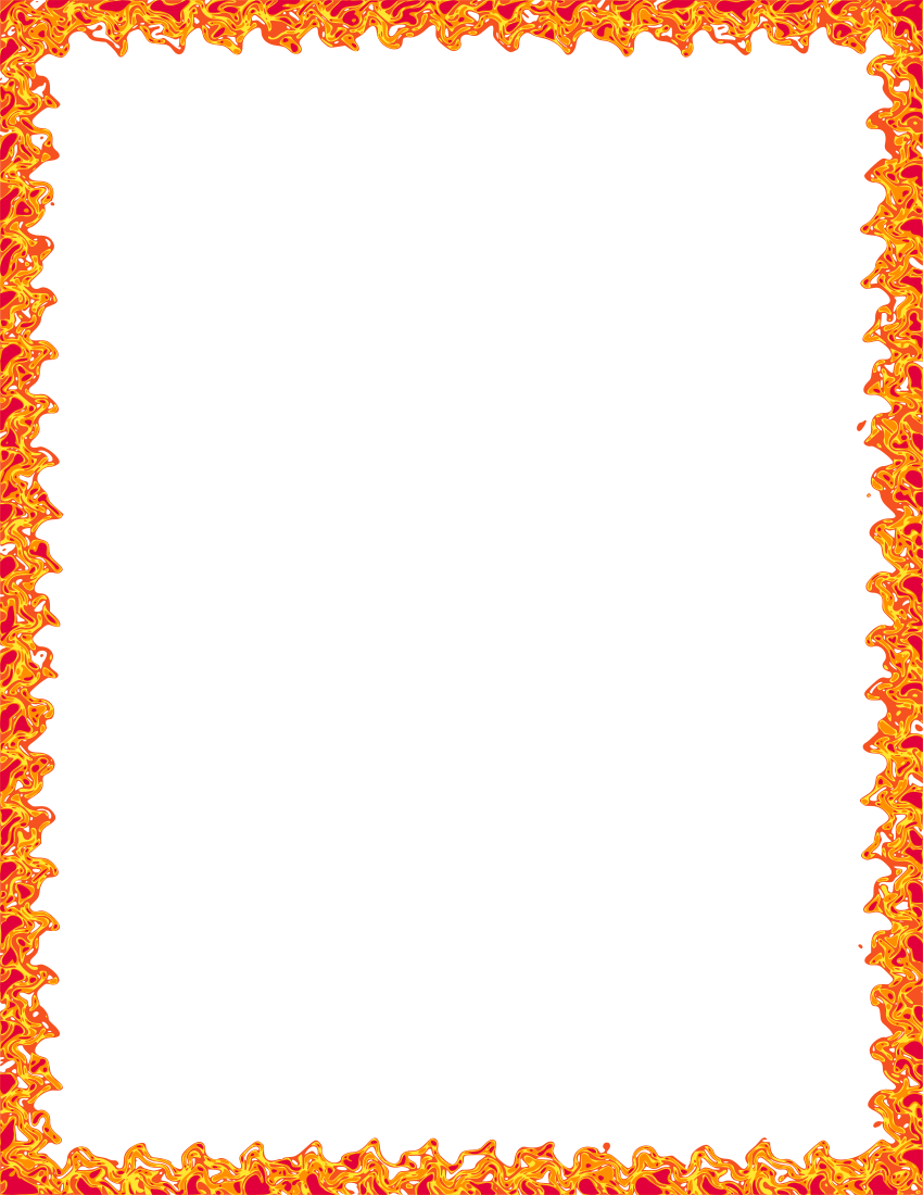 Flames clipart frame Png html flame frame