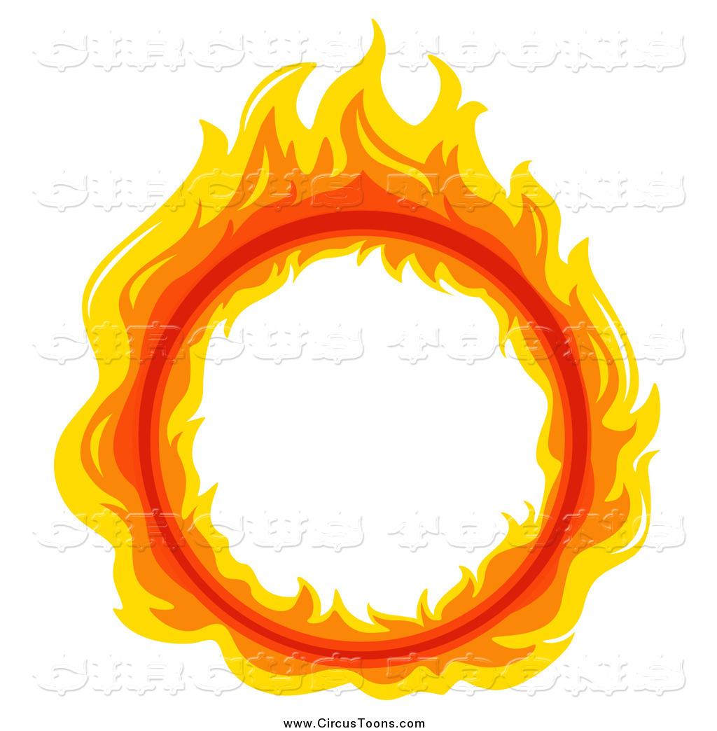 Flames clipart frame Illustrations Circus Stock Designs Clipart
