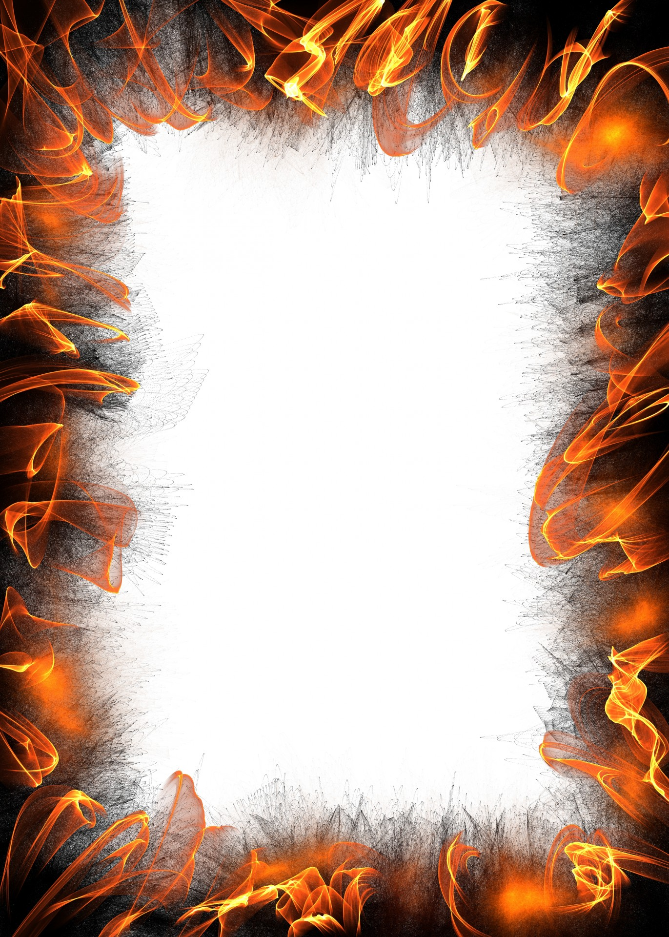 Flames clipart frame Free Paper Domain Border Photo
