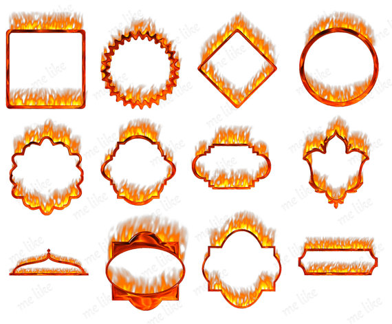 Flames clipart frame Frames DOWNLOAD Individual 12 Commercial