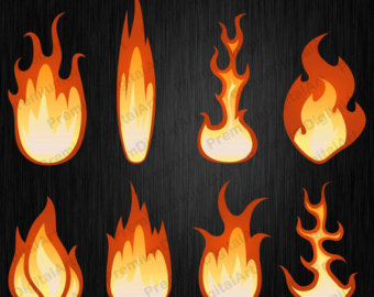 Flames clipart heat Fire clipart Flame clipart Etsy