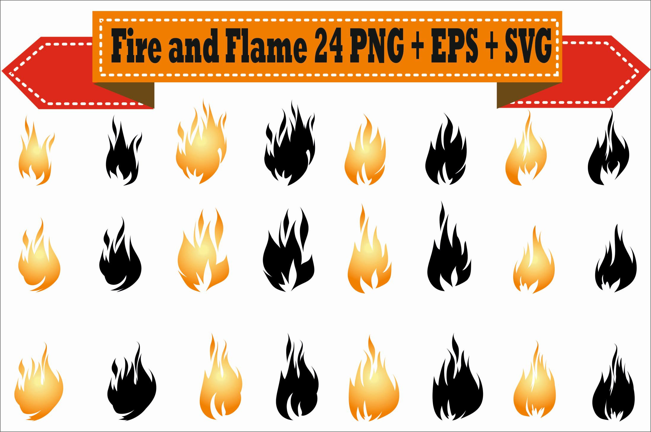 Flames clipart heat Flames file digital Play Pack