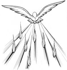 Flames clipart holy ghost fire Coloring Pictures Clip Dove Holy