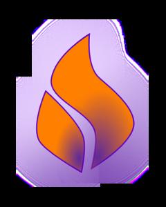 Flames clipart holy ghost fire Orange art Purple vector Art