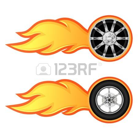 Flames clipart hot wheel 3 car Flame collections Vector