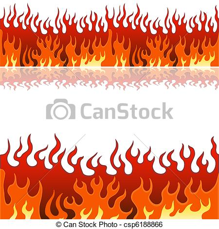 Flames clipart line flames Set of image csp6188866 Banner