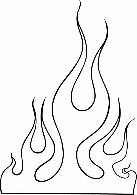 Flames clipart line flames Cliparts can you clip outline