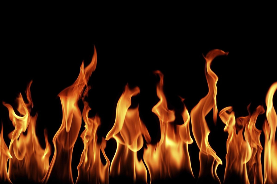 Flames clipart line flames Fire fire of line Prints