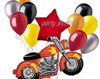 Harley Davidson clipart red motorcycle Flames Bouquet Etsy 12 Party