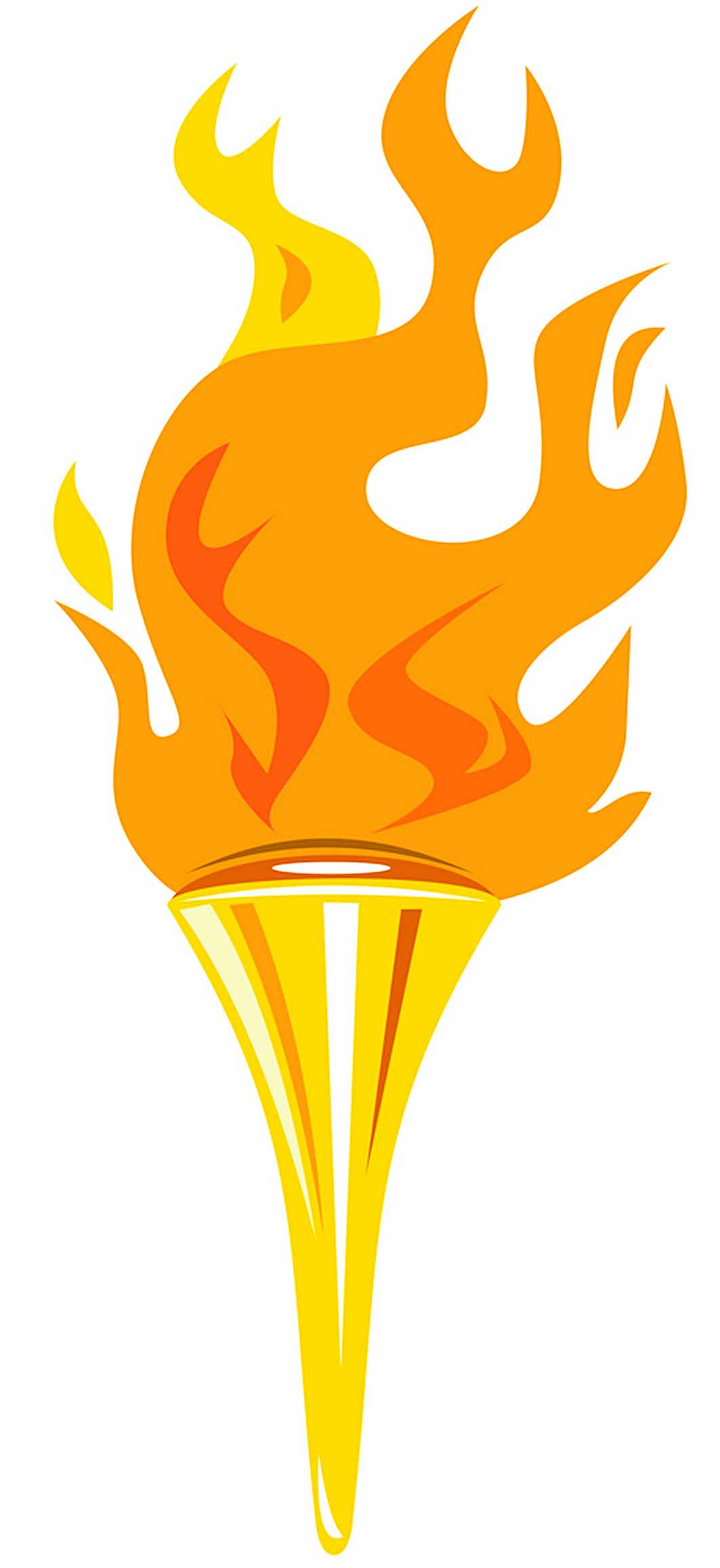Flames clipart olympic torch & Clipart Vectors Clipart olympic