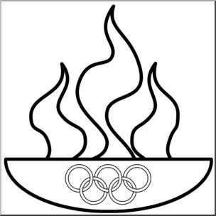 Flames clipart olympic torch Olympic on flame Pinterest ideas