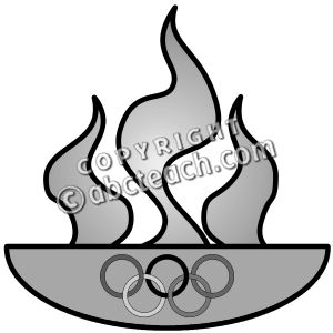 Flames clipart olympic torch Olympic clip Flame glossy art