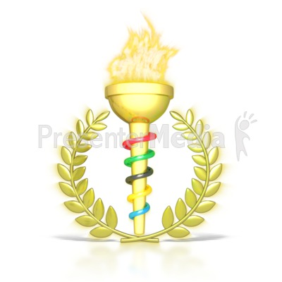 Flames clipart olympic torch Clipart Signs for PowerPoint and