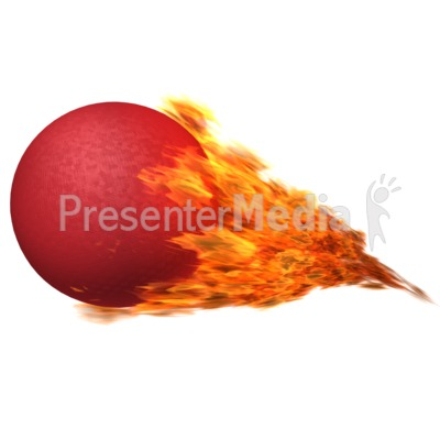 Flames clipart powerpoint HD Dodgeball 12561 Flaming PowerPoint