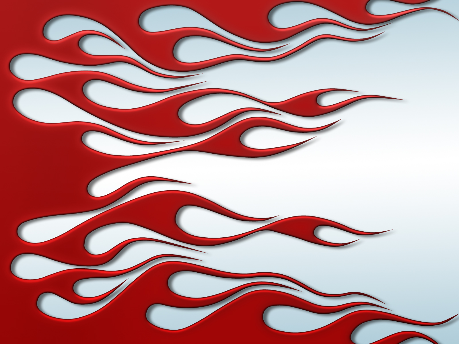 Flames clipart powerpoint Flames On Red White Template