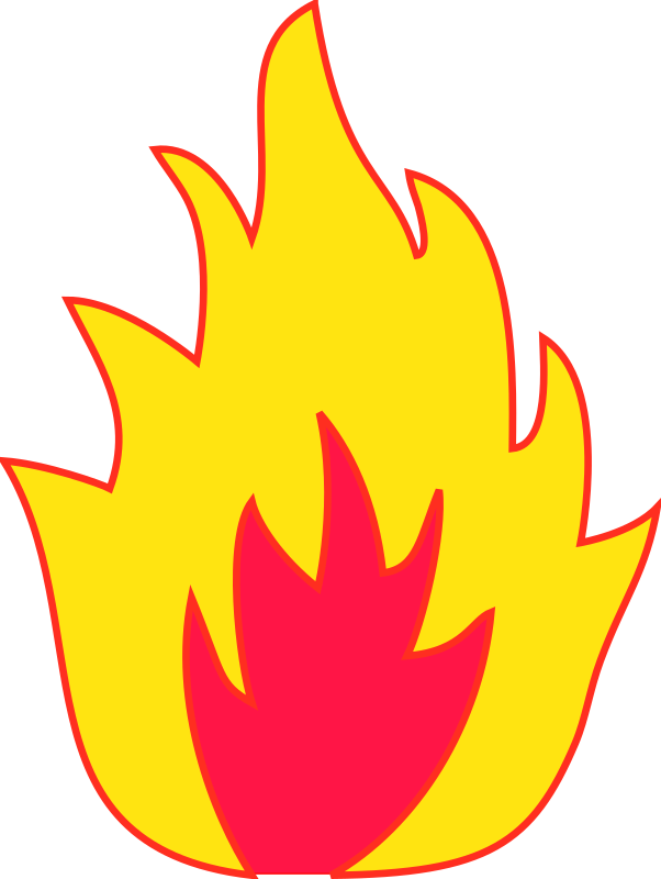 Flames clipart powerpoint Flame dominiquechappard by flame
