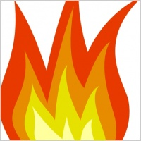 Flames clipart powerpoint Free Clip Flame Art Free