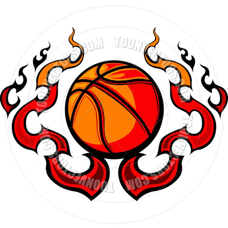 Flames clipart printable Basketball flames Pinterest on 25+