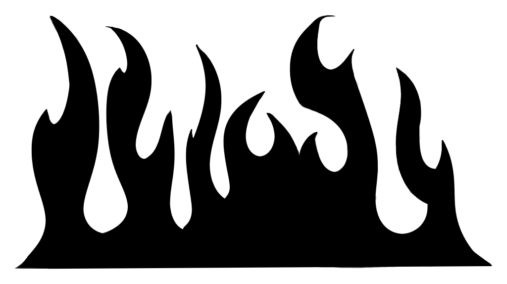 Flames clipart printable For stencil Name: 20867 png