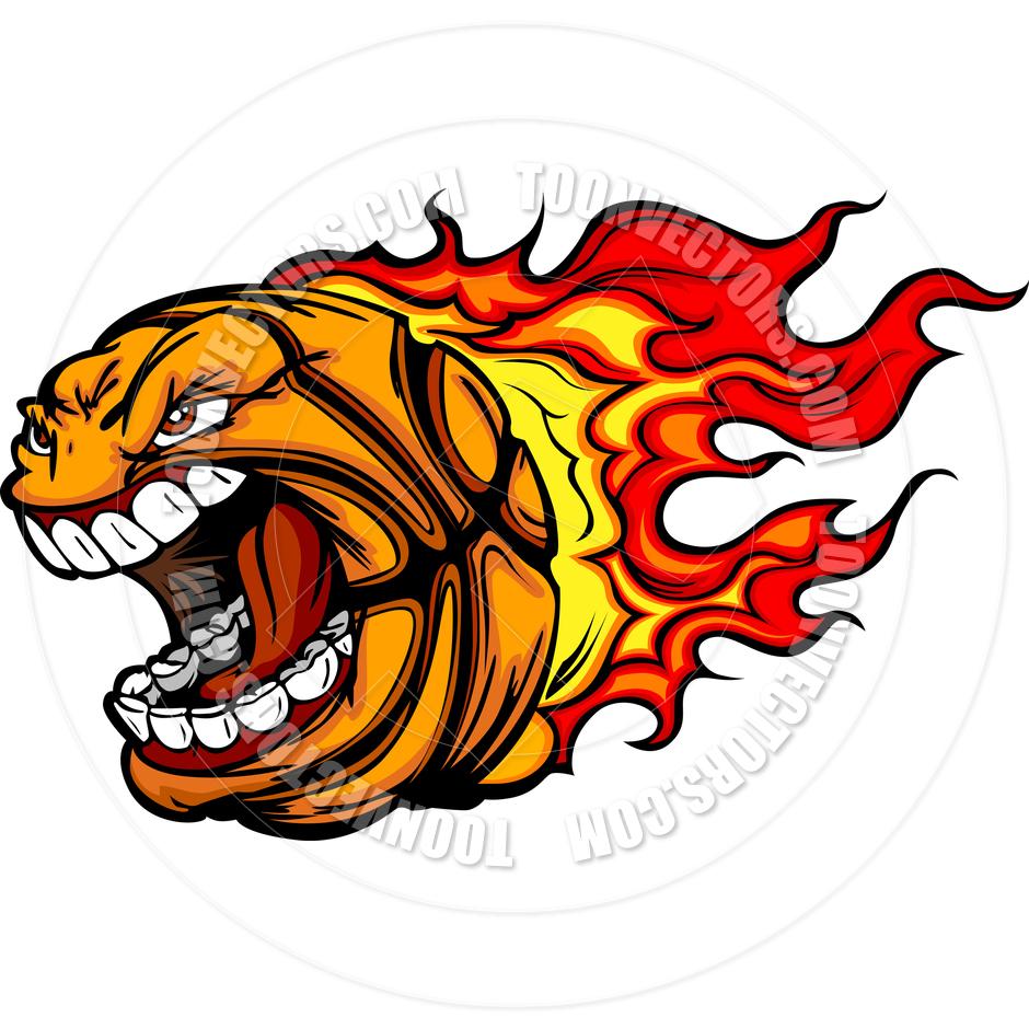 Flames clipart printable Cartoon Clipart Flames Basketball collection