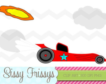 Flames clipart race car Digital and Personal w Use