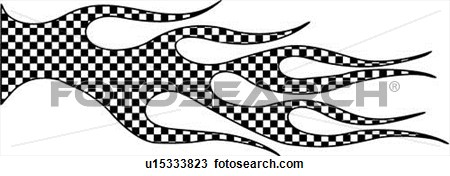 Flames clipart racing Checkered  Flag Flames Clipart