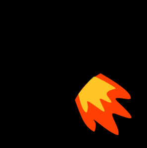 Flames clipart rocket Clip vector Rocket at