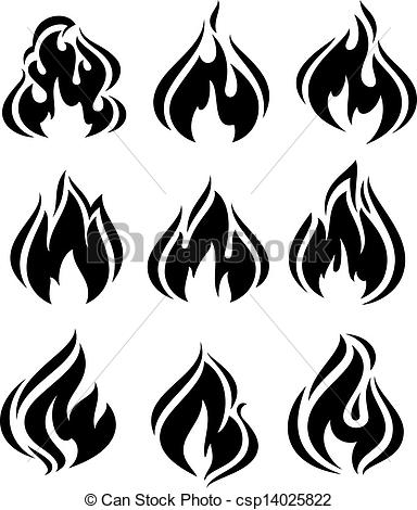 Flames clipart row Art Illustrations and EPS Clip
