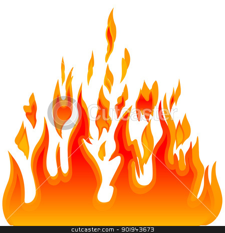 Flames clipart row Clipart On Art Clip Fire