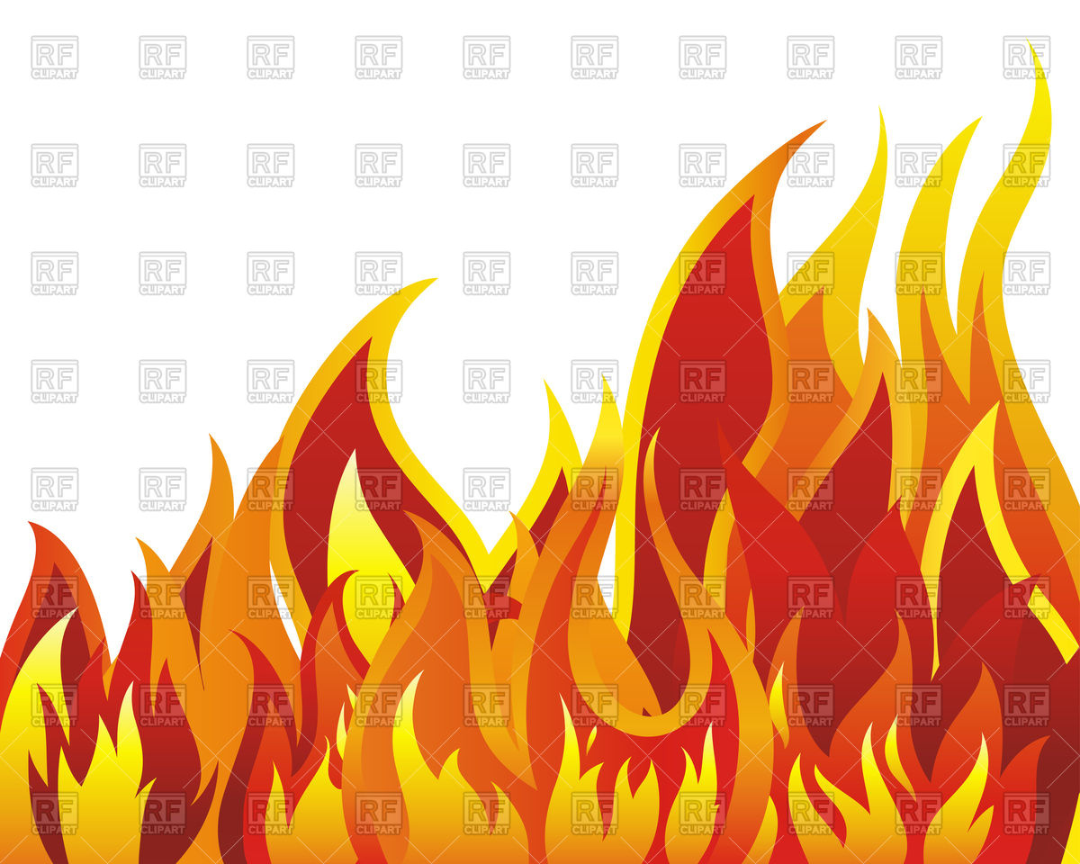 Flames clipart row White clipart Fire clipart background